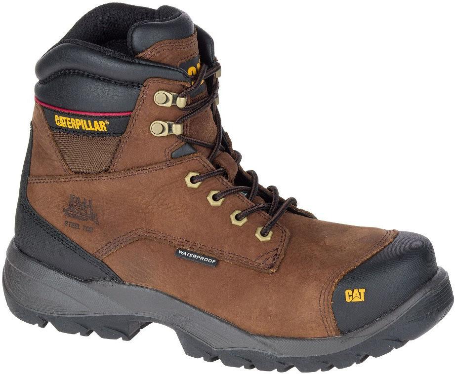 całkiem miło Nowy Jork uważaj na Męskie buty robocze Caterpillar Spiro ST S3 WR HRO SRC brązowe