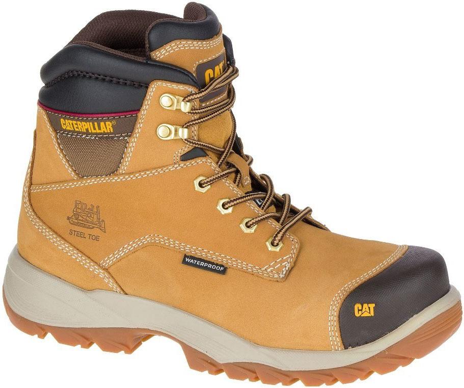 unikalny design buty jesienne tanie z rabatem Męskie buty robocze Caterpillar Spiro ST S3 WR HRO SRC beżowe